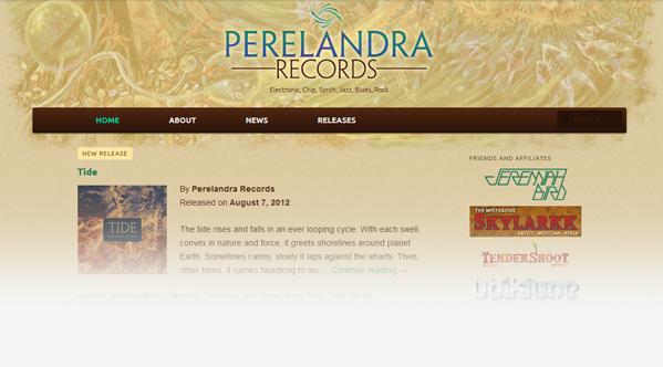 Perelandra Records Website 2012