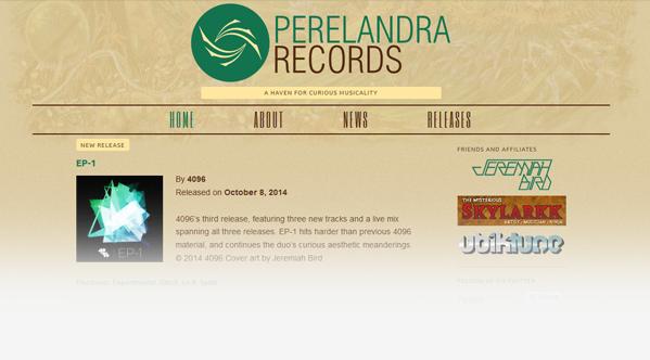 Perelandra Records Website 2014