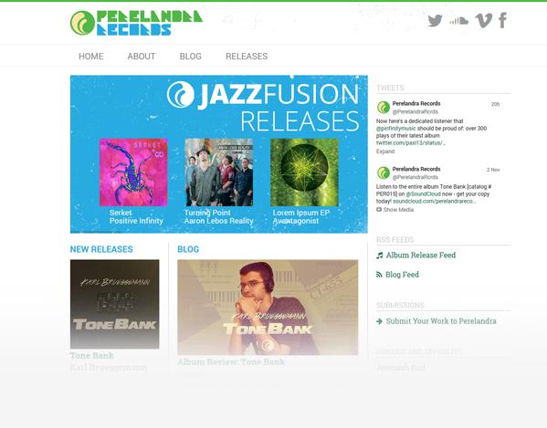 Perelandra Records Website 2015